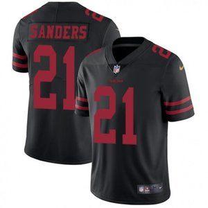 49ers Deion Sanders Black Jersey